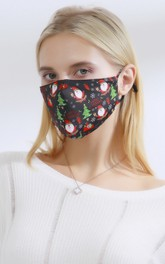Non-medicial Christmas Cotton Washable Face Mask In 10 Colors