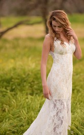 Low-Back Bridal Trumpet Ivory Dress