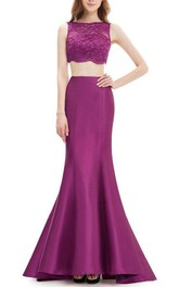 Sleeveless Bateau Neckline Floor-Length Trumpet Dress
