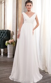 Deep Crystal Strapless Adorable High-Waist Gown