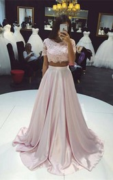 Formal Lace A-Line Party Two-Pieces Beautiful Gown