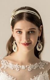 Western Style Original Pearl Headbands and Earrings