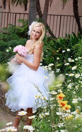 Wedding Criss Cross Ruffles Short Sweetheart Dress