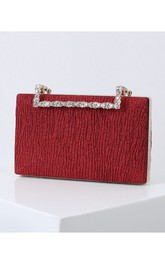 Simple Clutch with Crystal Handle