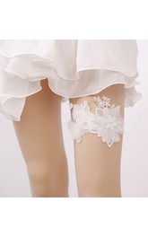 European Bridal Garter Flower Princess Style Fresh Sweet Lace Elastic Garter Belt Within 16-23inch