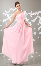 Flowy-Fabric Draping Ethereal Alluring Dress