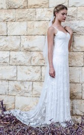 Sleeveless Tulle Wedding Sweetheart Mermaid Lace Chiffon Gown