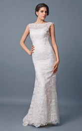 Lace Floor-Length Fit-And-Flare Backless Wedding Long Gown