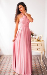 casual Haltered Sheath Floor-length  Dress