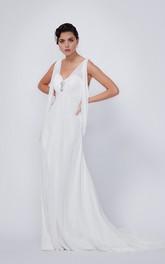 Stylish Chiffon Sleeveless Court Train Wedding Dress