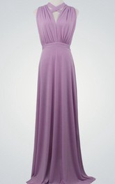 casual Sleeveless Haltered Floor-length Dress
