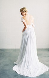 Floor-Length Bridal Romantic Sassy Chiffon Dress