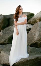 Babydoll Bohemian Lace Wedding Gown
