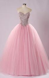 Tea-Length Lace Tulle Off-The-Shoulder One-Shoulder Lace-Up Jeweled Back Dress