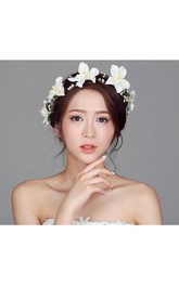 Flower Fairy Korean Flower Headdress Bride Wreath Heart Of The Female Flower Hair Wedding Holiday Jewelry