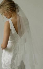 Simple Soft Tulle Fingertip Bridal Veil