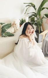 Simple Style Multi-Layer Tulle Mesh Wedding Veil