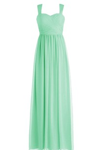 Straps Criss-cross Sheath Gown With Zipper Back