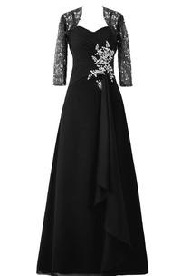 Illusion Matching Jacket Chiffon Sleeveless Dress