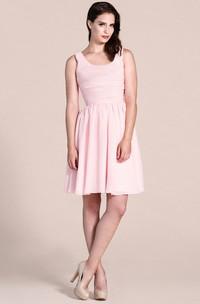 Sleeveless Scoop Short Dress With Pleats