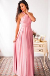 casual Haltered Sheath Floor-length  Dress