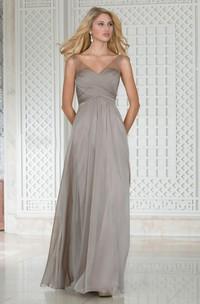 Criss cross V-neck Sleeveless Dress With Beading And Strap