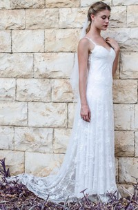 Sleeveless Tulle Wedding Sweetheart Mermaid Lace Chiffon Gown