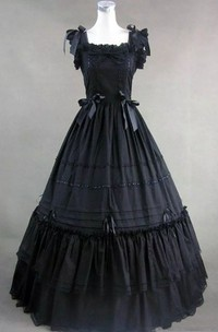 Square Ball Gown Sleeveless Floor-length Wedding Dress with Zipper Back