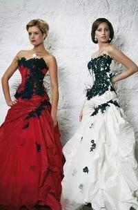 Sweetheart A-Line Sleeveless Taffeta Floor-length Sweep Train Wedding Dress with