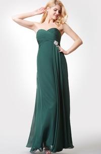 Chiffon Lace Strapped Trumpet Impressive Dress
