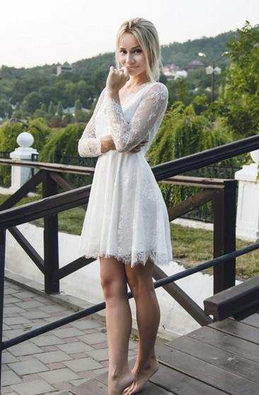 Short Sleeved Wedding Gowns Mini Midi Bridal Gowns Dressafford