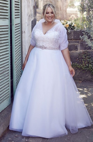 Plus Size Wedding Dresses With Sleeves Sleeved Plus Size Gowns Dressafford
