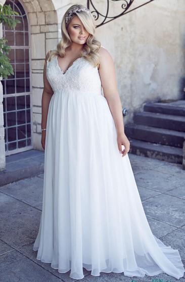 Simple Casual Bridal Dresses Plus Size Wedding Gowns Dressafford