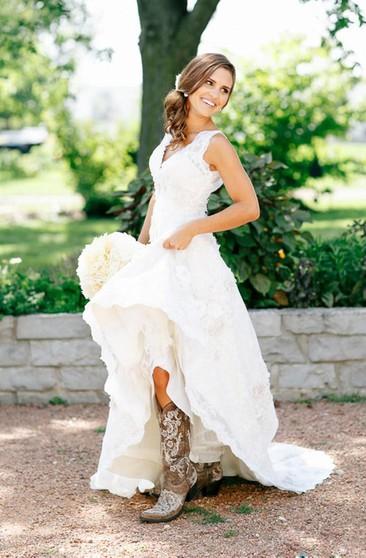 Western Bridal Dresses Country Rustic Wedding Gowns Dressafford