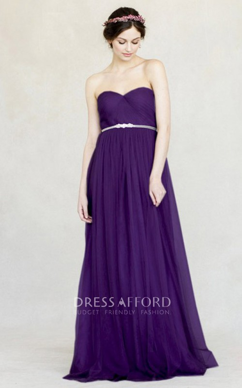 Sweetheart Sleeveless Criss cross Tulle Bridesmaid Dresses