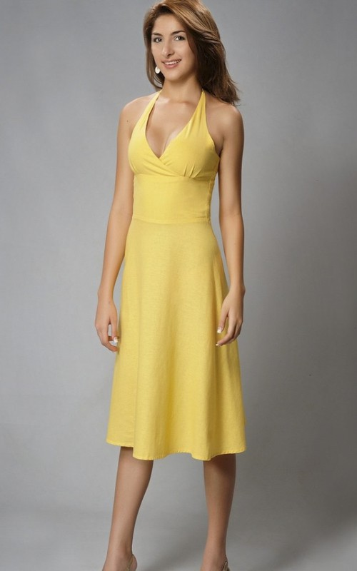 Chiffon Sheath Sexy V-neck Open Back Knee-length Dress With Ruching And Straps
