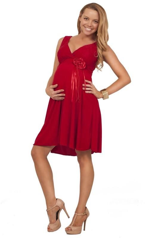 Short Pleated V-Neckline Sleeveless Chiffon Midi-Length Gown