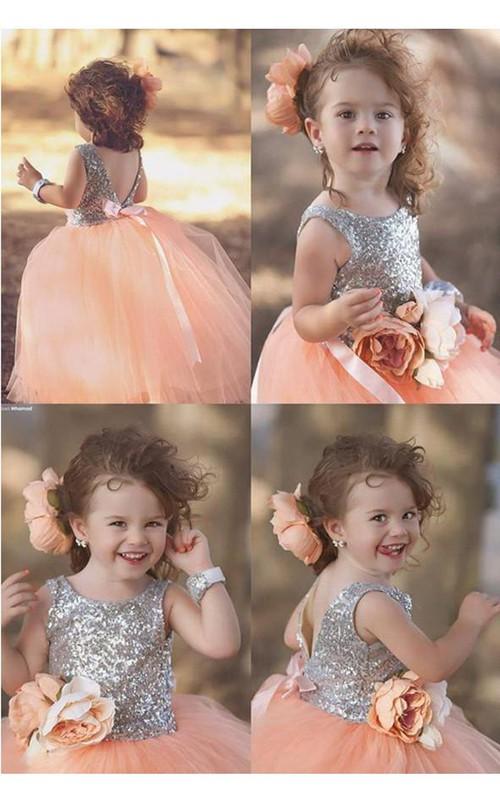 Pageant Jewel Sleeveless Tulle Lovely Flower Girl Dress
