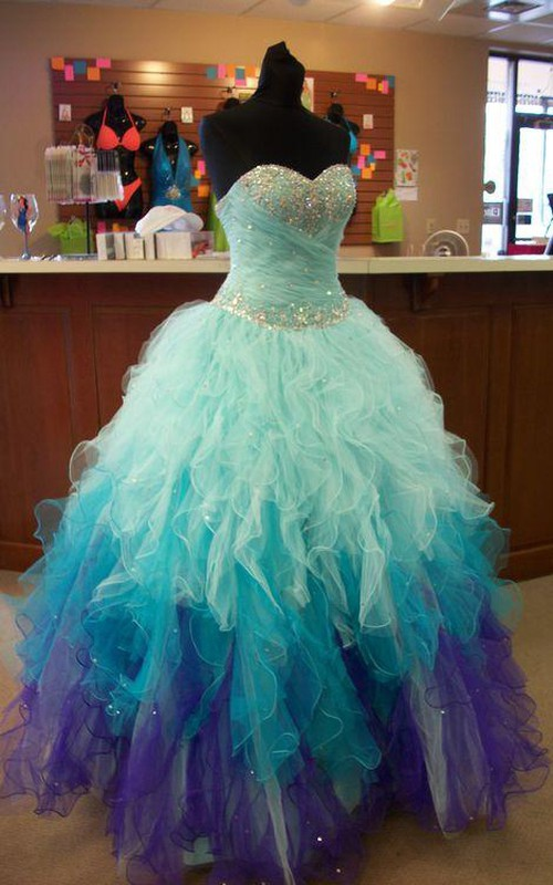 Trumpet Tulle Keyhole Full-Length Jewel Sweetheart Straps Beaded Ball Gown