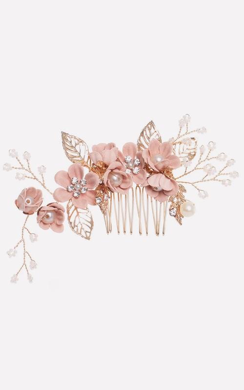 Elegant Vintage Floral Golden Hair Pin