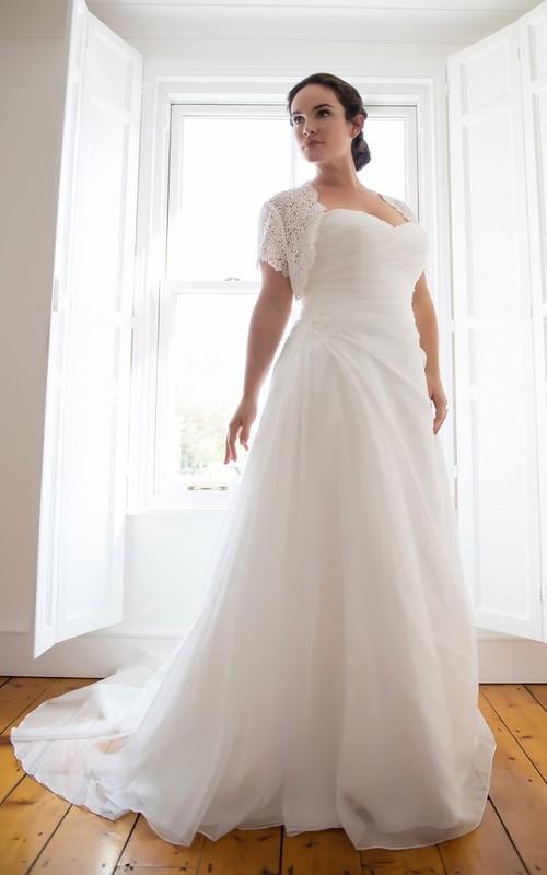 Chiffon Draping Floor-Length A-Line Side Dress