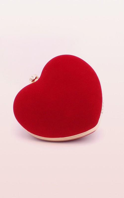 Heart-shaped Flannel Clutch