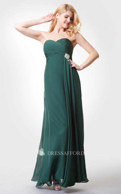 Chiffon Lace Strapped Trumpet Impressive Dress
