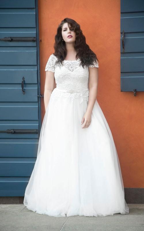 Short-Sleeve Long A-Line Jewellery Dress