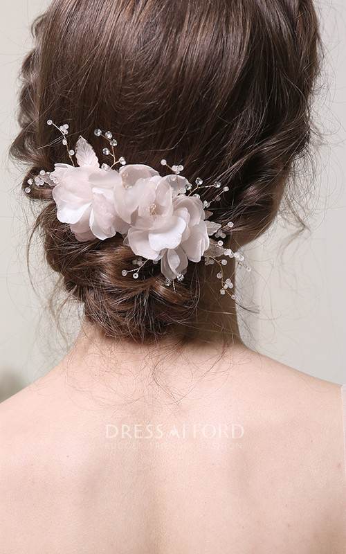 Western Style Floral Crystal Hair Combs