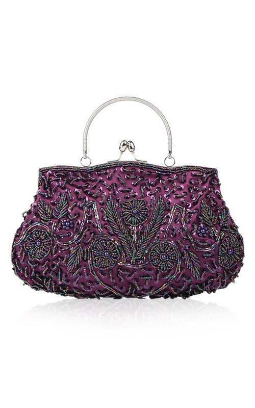 Appliqued Beaded Handbag