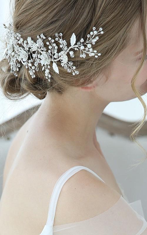 Original Glamorous Forest Style Beaded Hair Clips