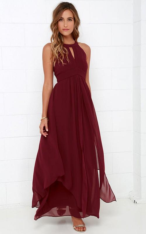 Brilliant Halter Empire Sleeveless Dress