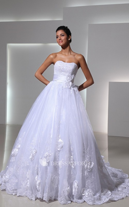 Lace Bridal Sweetheart Royal Princess English-Net Ball Gown