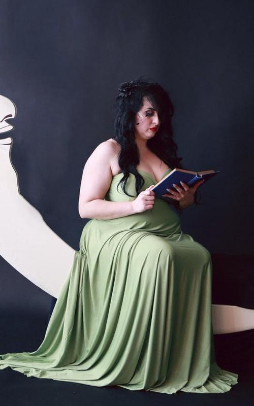 Sweetheart Empire Pleated long plus size Dress